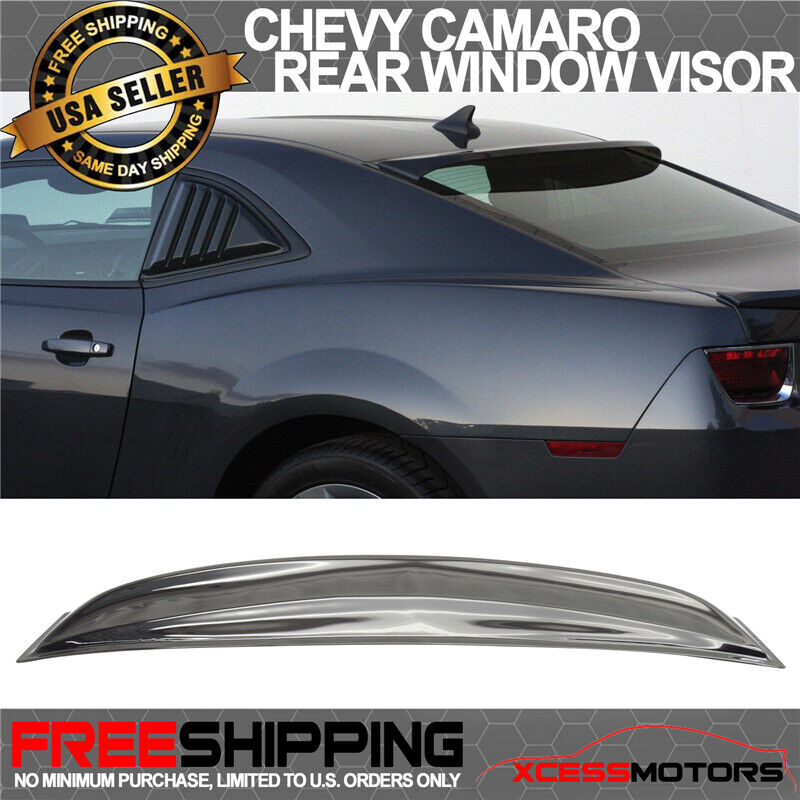 10 16 Chevy Camaro Rear Roof Window Visor Shade Deflector