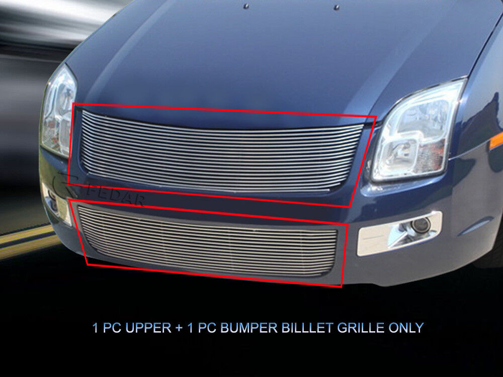 Fits 2006 2007 2008 2009 Ford Fusion Billet Grille Combo ...