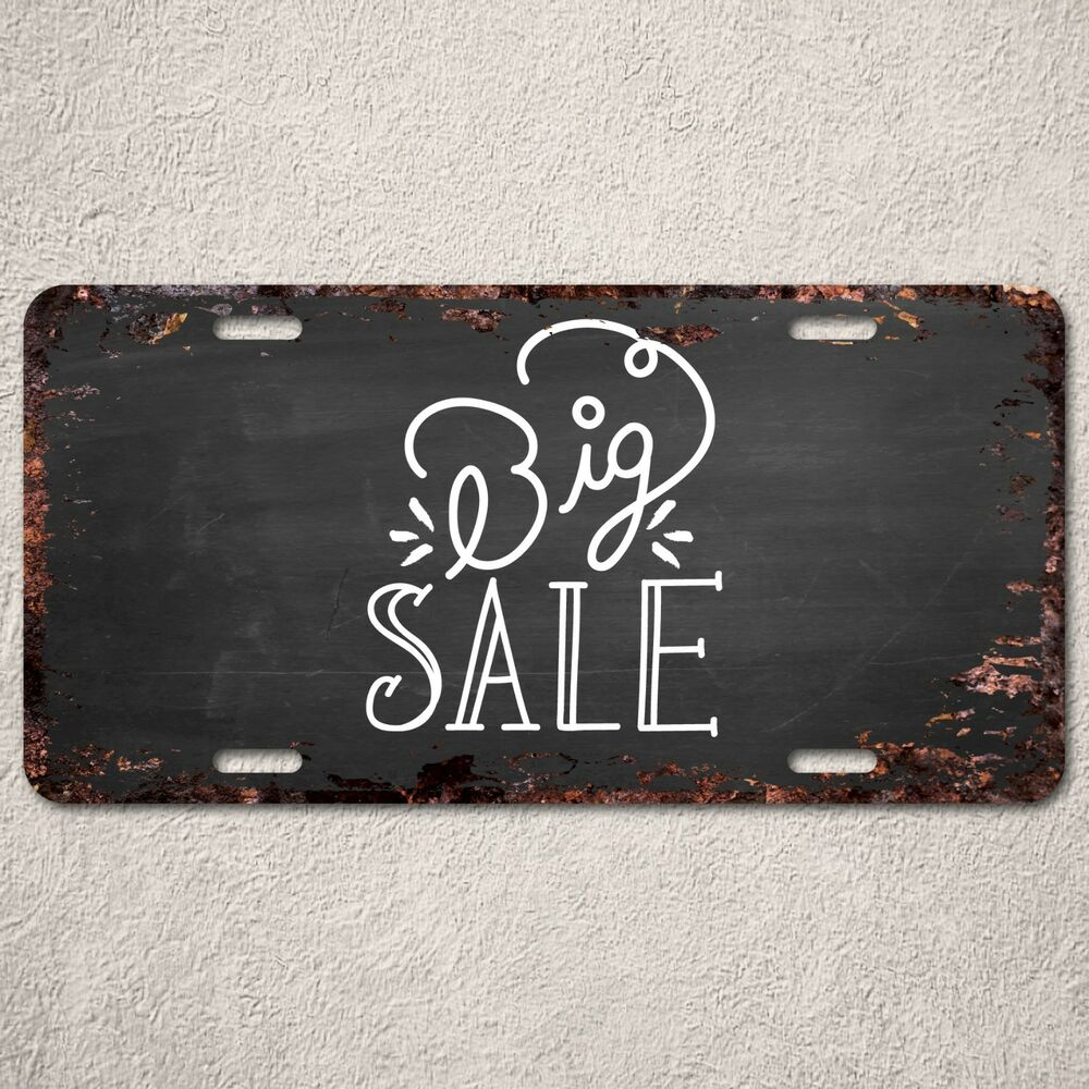 Lp292 big sale rust vintage auto car license plate home for Home decor items on sale