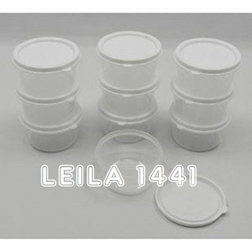 new small round mini clear plastic food craft bead storage container box w lids ebay. Black Bedroom Furniture Sets. Home Design Ideas