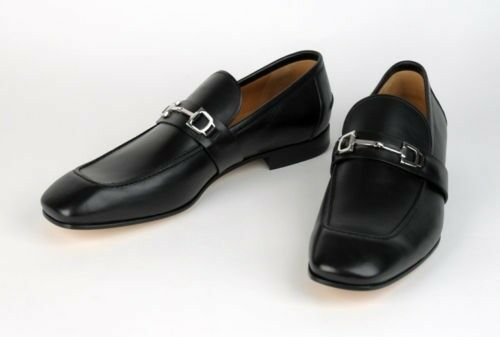 GUCCI Horsebit Black Dress Luxury Shoes Mens ITALY