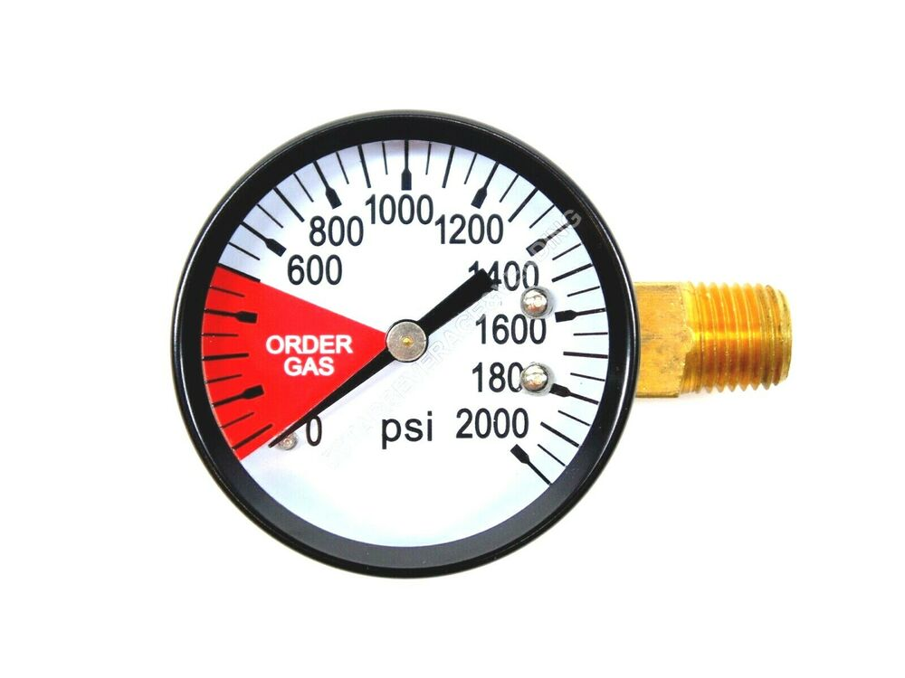 High Pressure Meter : Co high pressure replacement gauge psi quot npt lh
