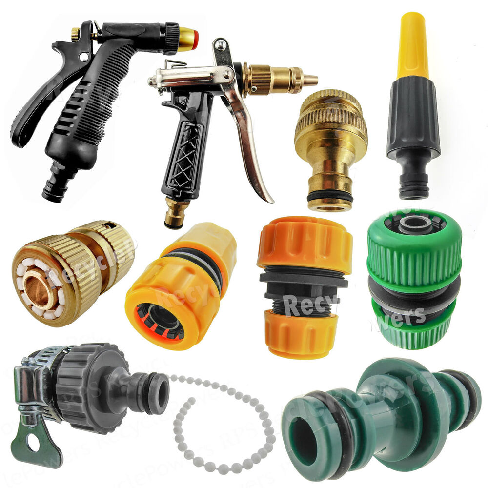 pipe nozzle fitting tap adaptor connector garden car water hose 1 2 3 39 4 lot ebay. Black Bedroom Furniture Sets. Home Design Ideas