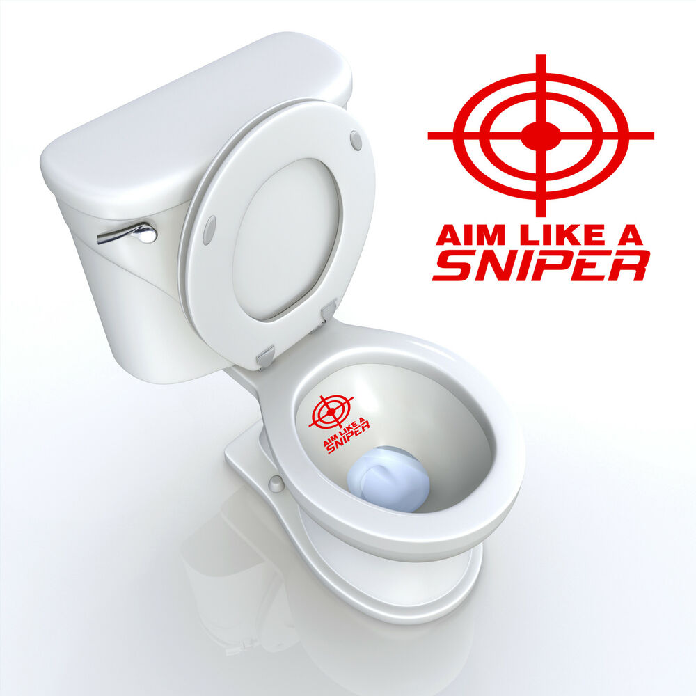 Toilet Seat Decal Aim Like A Sniper Target Bathroom Decal