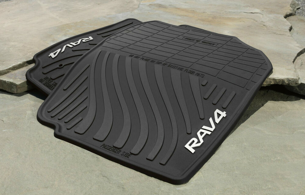 Genuine toyota rubber all weather floor mats for 2007 2012 for Original toyota floor mats