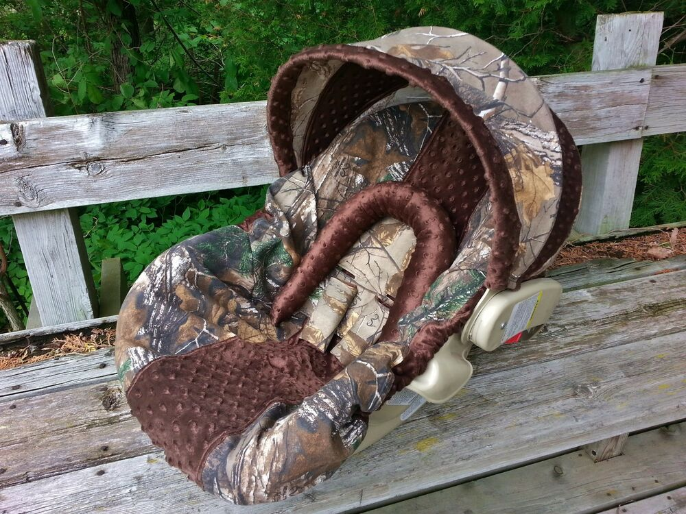 Camo Infant Car Seat Cover Realtree Fabric And Brown