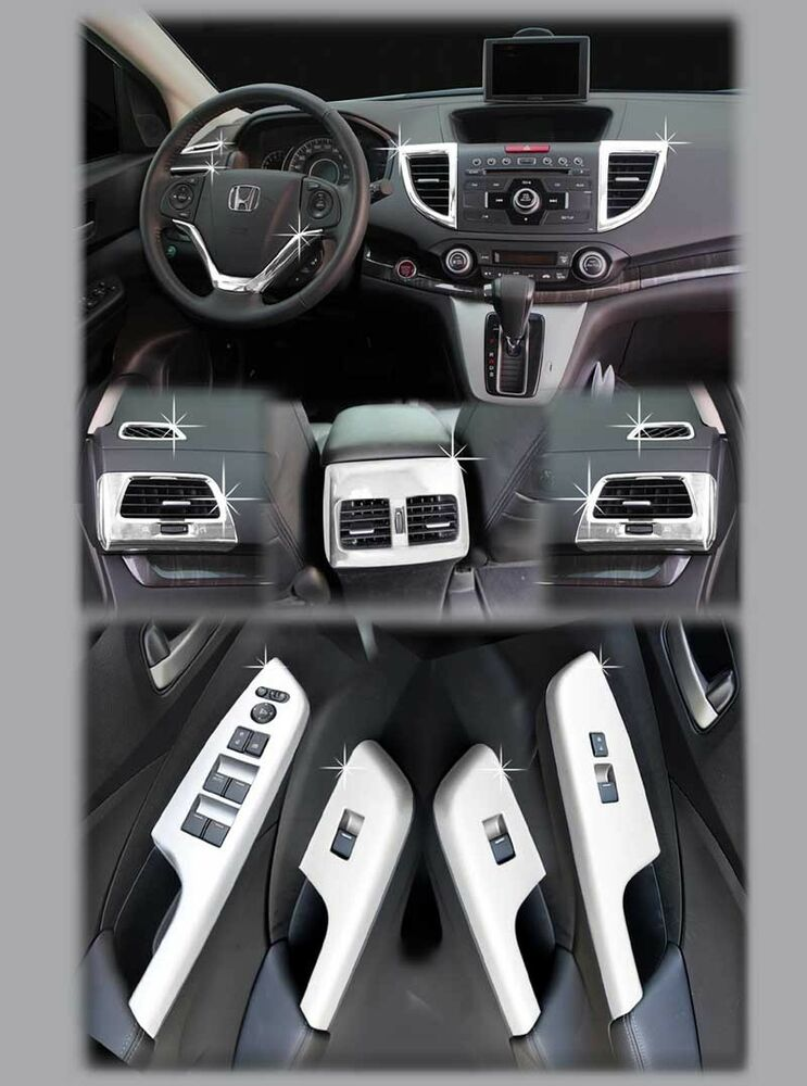 zubeh r honda cr v 2012 2014 chrom tuning innenraum set interior ebay. Black Bedroom Furniture Sets. Home Design Ideas