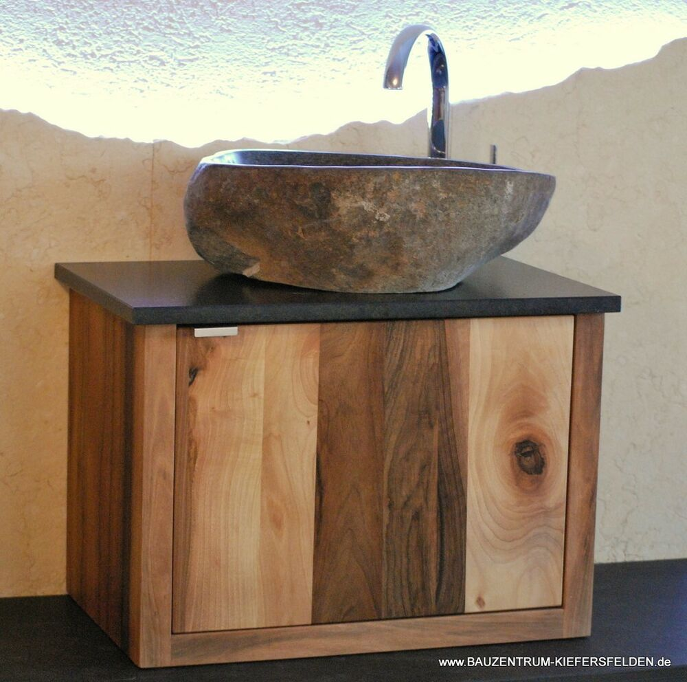 waschtisch granit flu stein waschbecken massivholz marmorbecken naturstein cq317 ebay. Black Bedroom Furniture Sets. Home Design Ideas