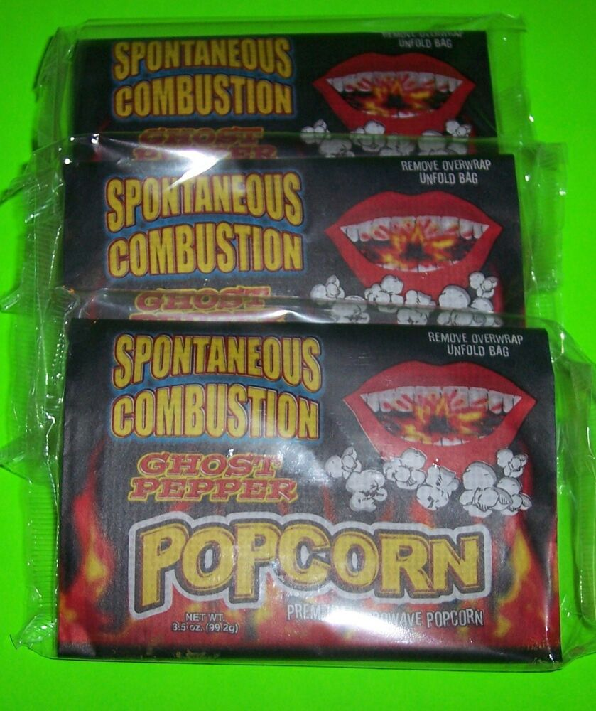 Tea Towels Spontaneous Combustion: SPONTANEOUS COMBUSTION MICROWAVE POPCORN WITH GHOST PEPPER