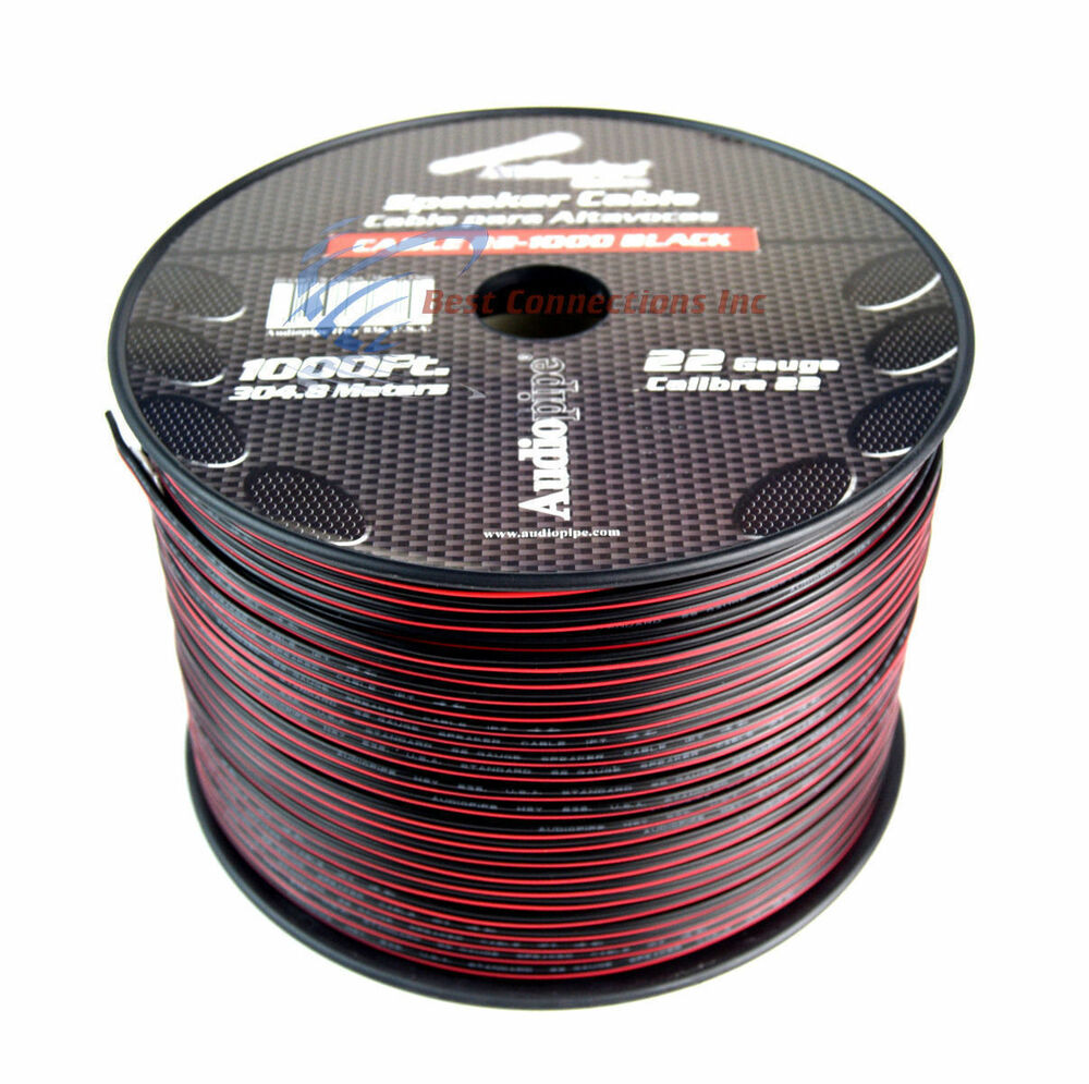 Speaker Wire Size : Gauge  speaker wire audiopipe red black zip cable