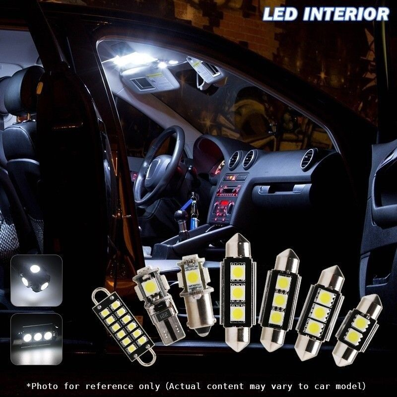 7 canbus xenon white car interior led bulbs package kit for 07 13 jeep wrangler ebay. Black Bedroom Furniture Sets. Home Design Ideas