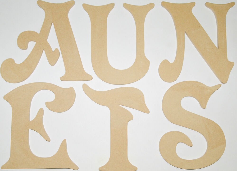 Extra large wooden letters 400mm mdf hand made names signs for Large wooden letters