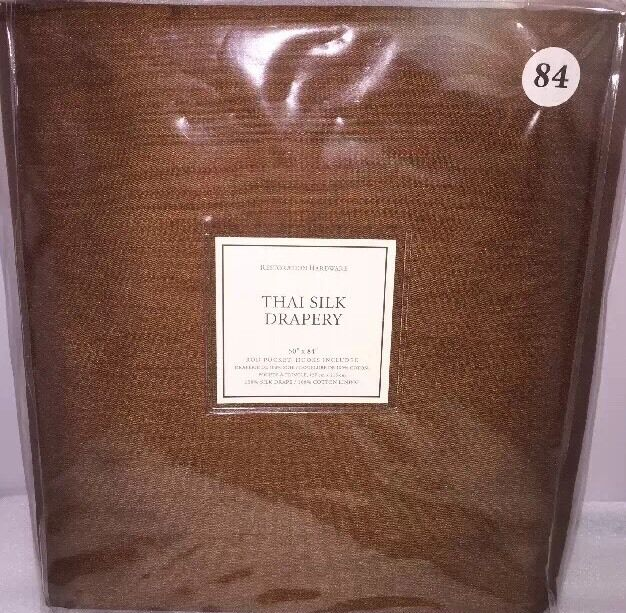Restoration Hardware Ebay: 1 NEW RESTORATION HARDWARE THAI SILK ROD POCKET DRAPES