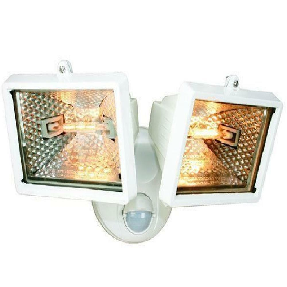 Corner Wall Security Light : ELRO TWIN White SECURITY PIR FLOOD LIGHTS & BRACKET 120 WATT ES120/2 Free Post eBay