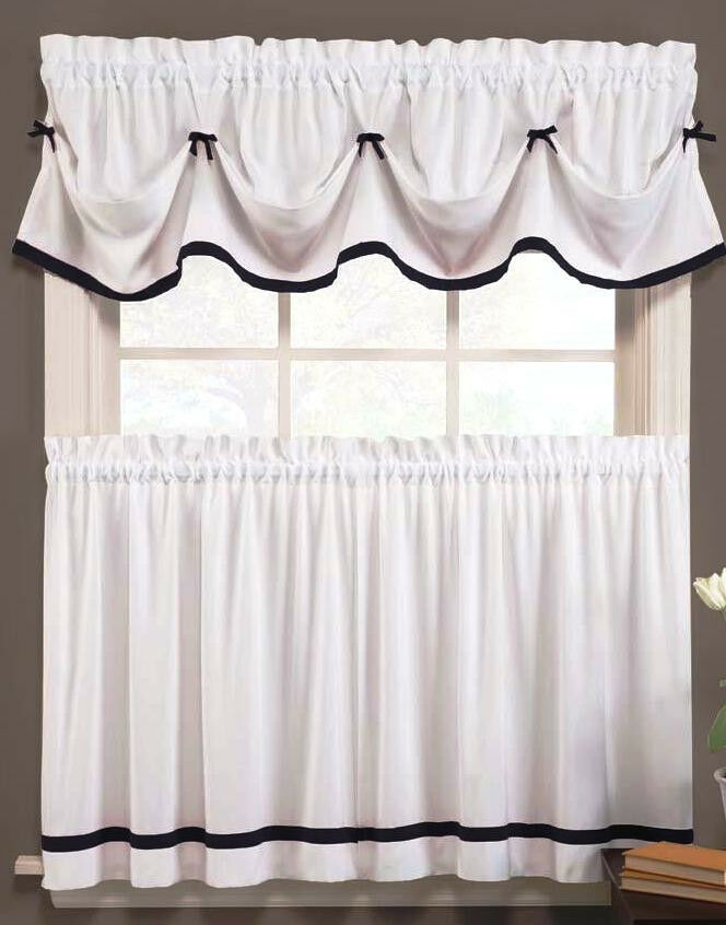 Kate Kitchen Curtains Black White Brand New In Package Ebay