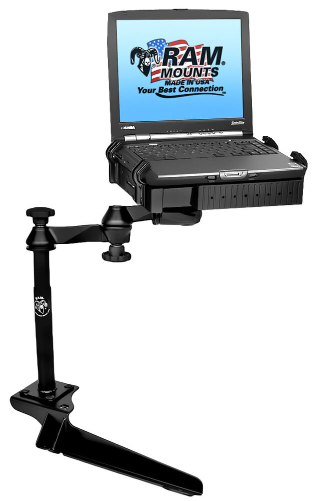 Ram No Drill Laptop Mount For Ford F250 F350 F450 F550