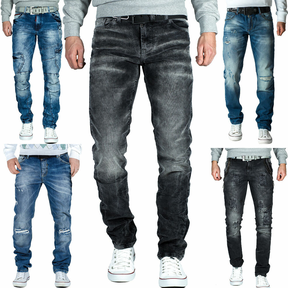 herren jeans hose mens pants stright slim fit cargo jogging dope swag top mod ebay. Black Bedroom Furniture Sets. Home Design Ideas