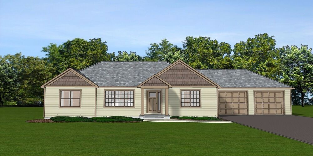 Custom Home House Plan 1 696 SF Ranch W Basement Blueprint 1323