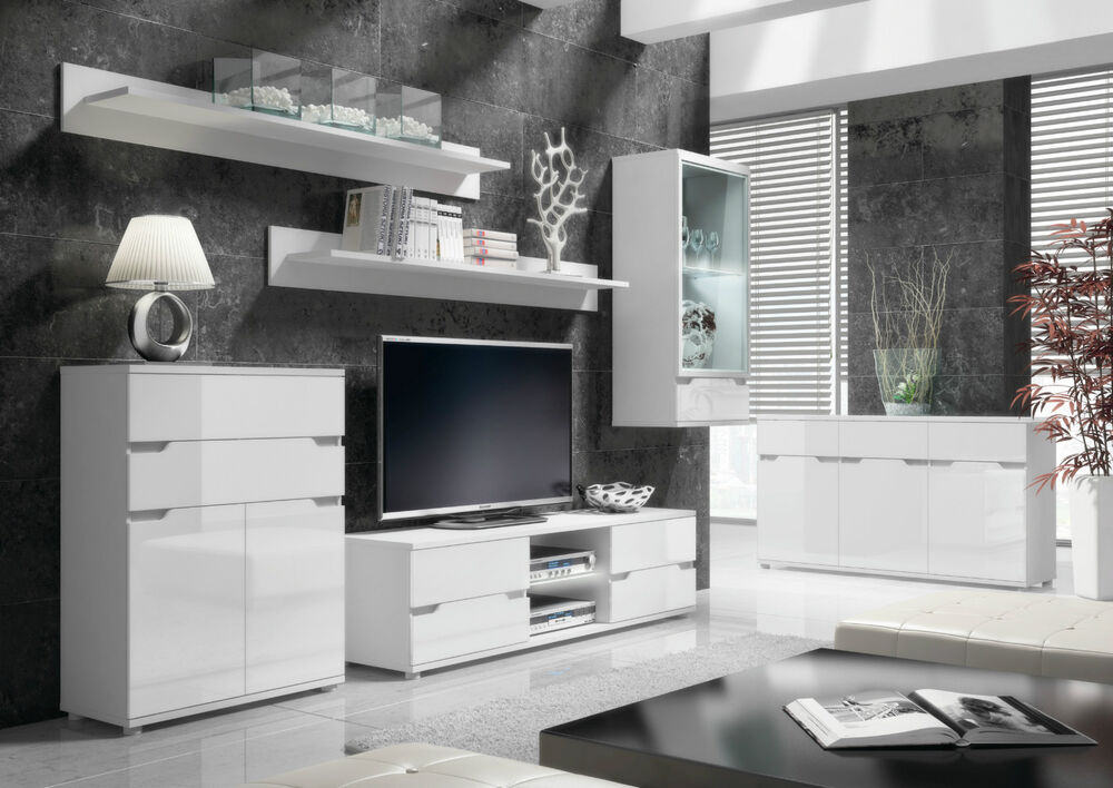Tv Tables Menard High Gloss Tv Unit: Aspire High Gloss White Lounge Furniture Sideboard TV Unit