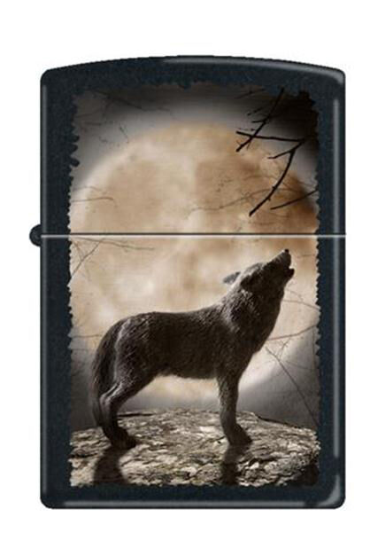 Zippo 3731 wolf howling at moon full size Lighter | eBay