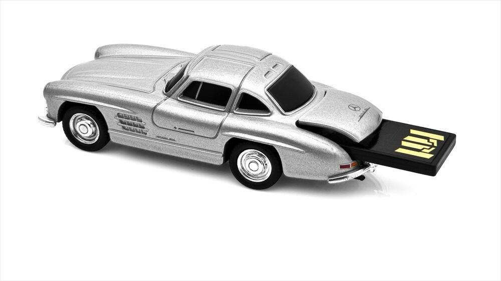 1 72 die cast metal mercedes benz 300sl usb flash drive for Mercedes benz flash drive with box