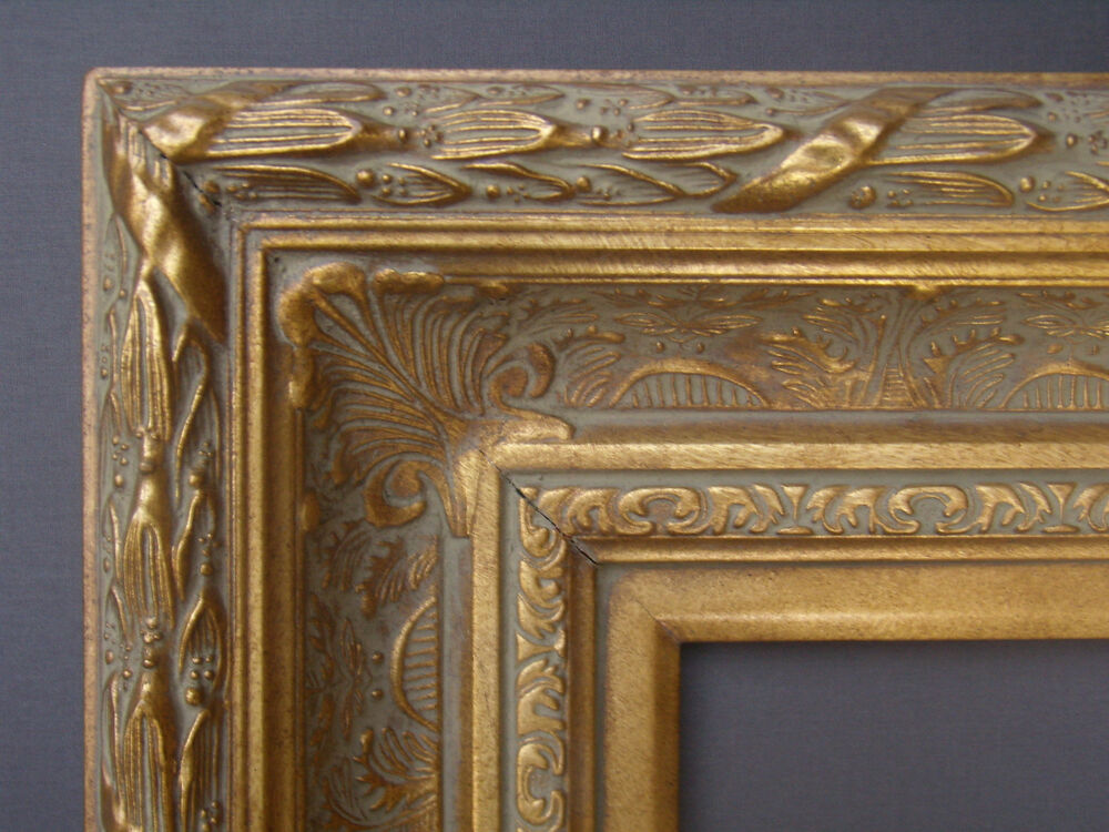 Extra Wide Ornate Gold Gilt Victorian Barbizon Antique