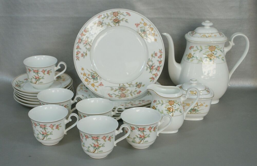 villeroy boch bone china bonzai kaffeeservice service f r 6 pers 21 teile ebay. Black Bedroom Furniture Sets. Home Design Ideas