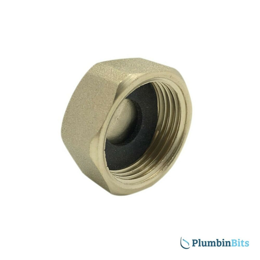 Brass 1 2 Quot Bsp Blanking Cap Amp Rubber Washer To Cap Off A