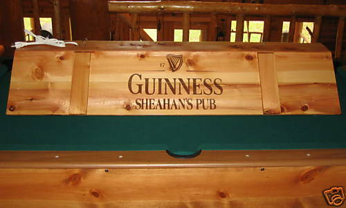 new custom guinness pool table light cue rack combo ebay. Black Bedroom Furniture Sets. Home Design Ideas