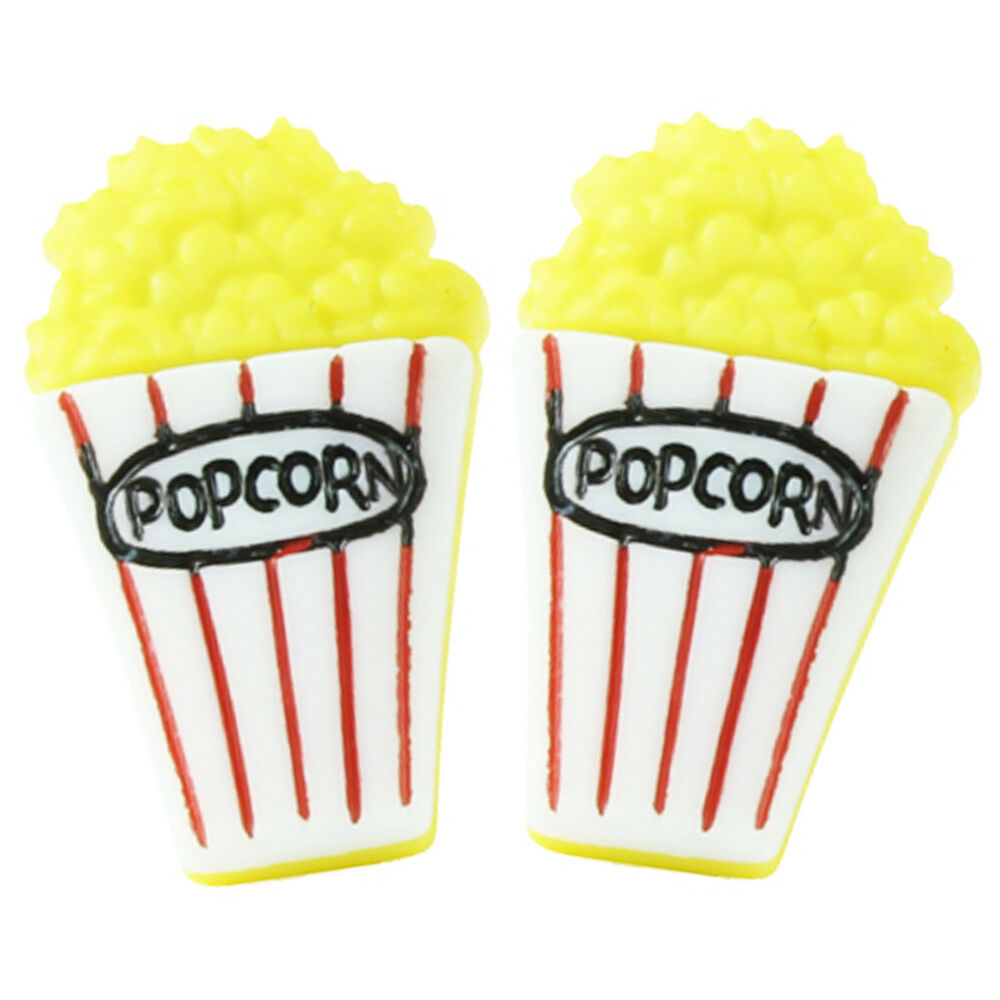 Funky popcorn stud earrings junk food treat snack candy for Quirky retro gifts