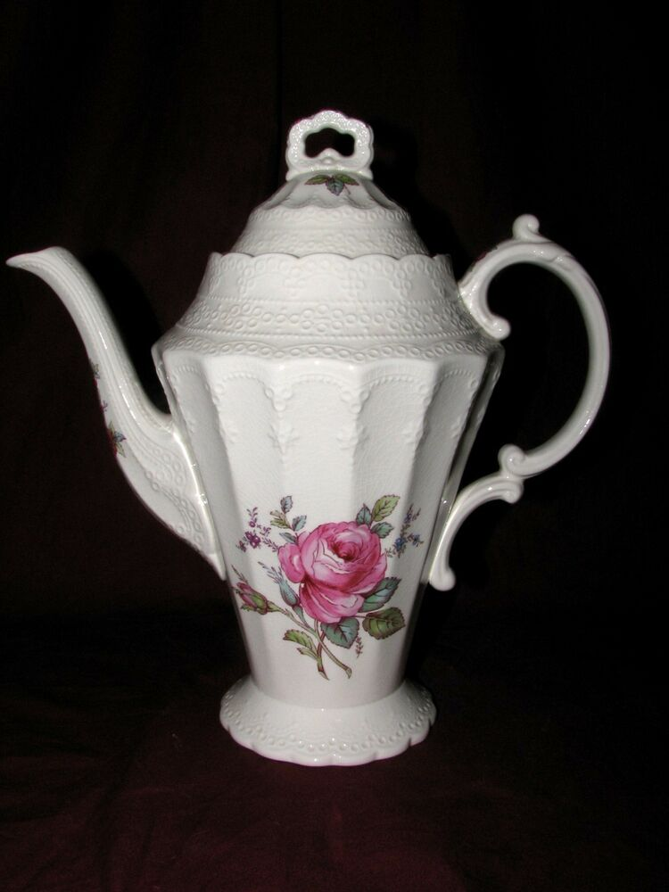 How To Remove A Bid On Ebay >> Spode China Billingsley Rose pattern coffeepot with lid | eBay