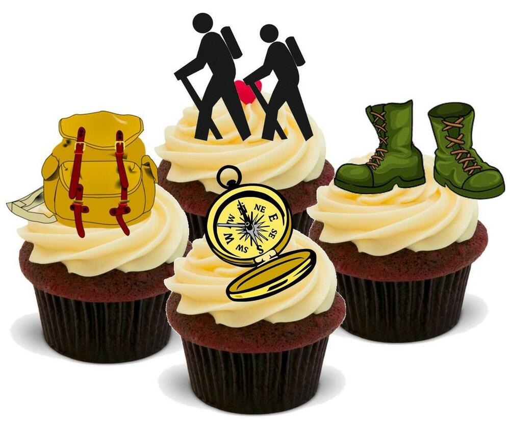 Hiking Cake: NOVELTY RAMBLING RAMBLER MIX STAND UP Cake Toppers