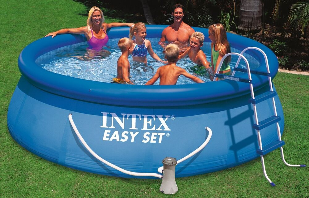 intex 12ft x 30in swimming pool pump easy set free. Black Bedroom Furniture Sets. Home Design Ideas