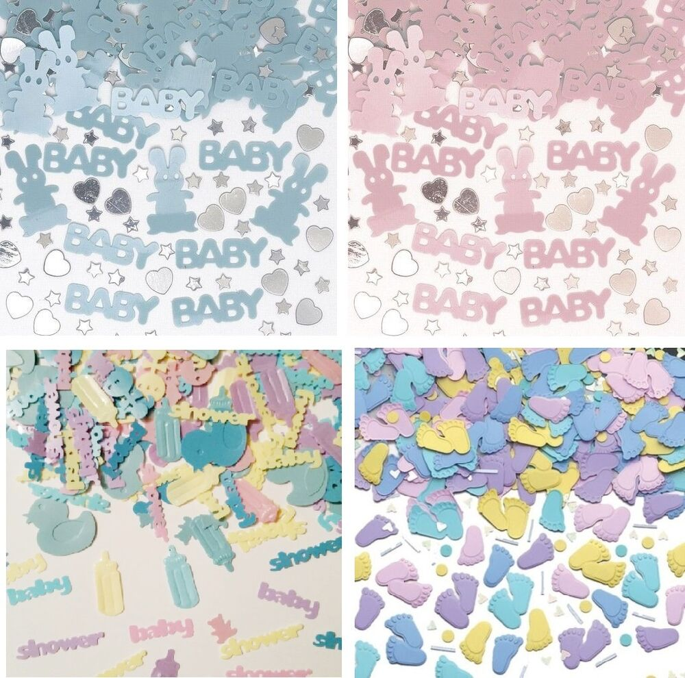 Baby shower party confetti girl boy pink blue multi for Baby confetti decoration