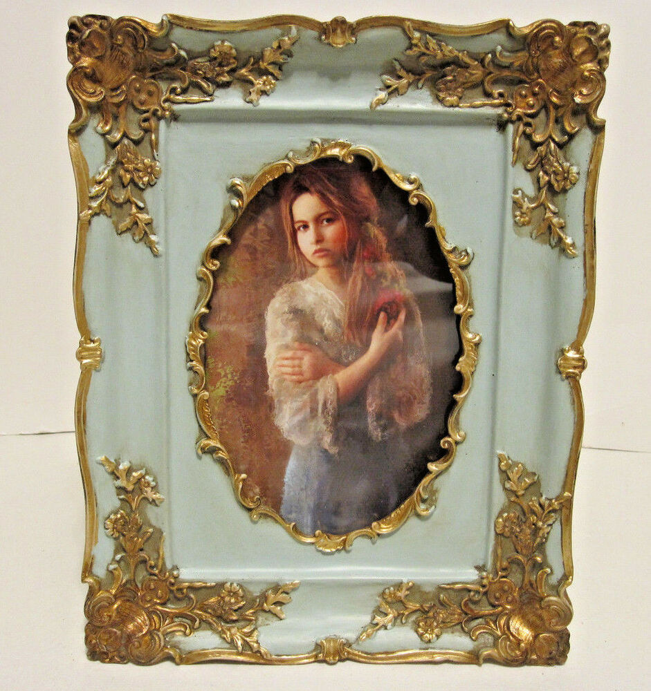 antique looking gold victorian style 4 x 6 oval picture frame ebay. Black Bedroom Furniture Sets. Home Design Ideas