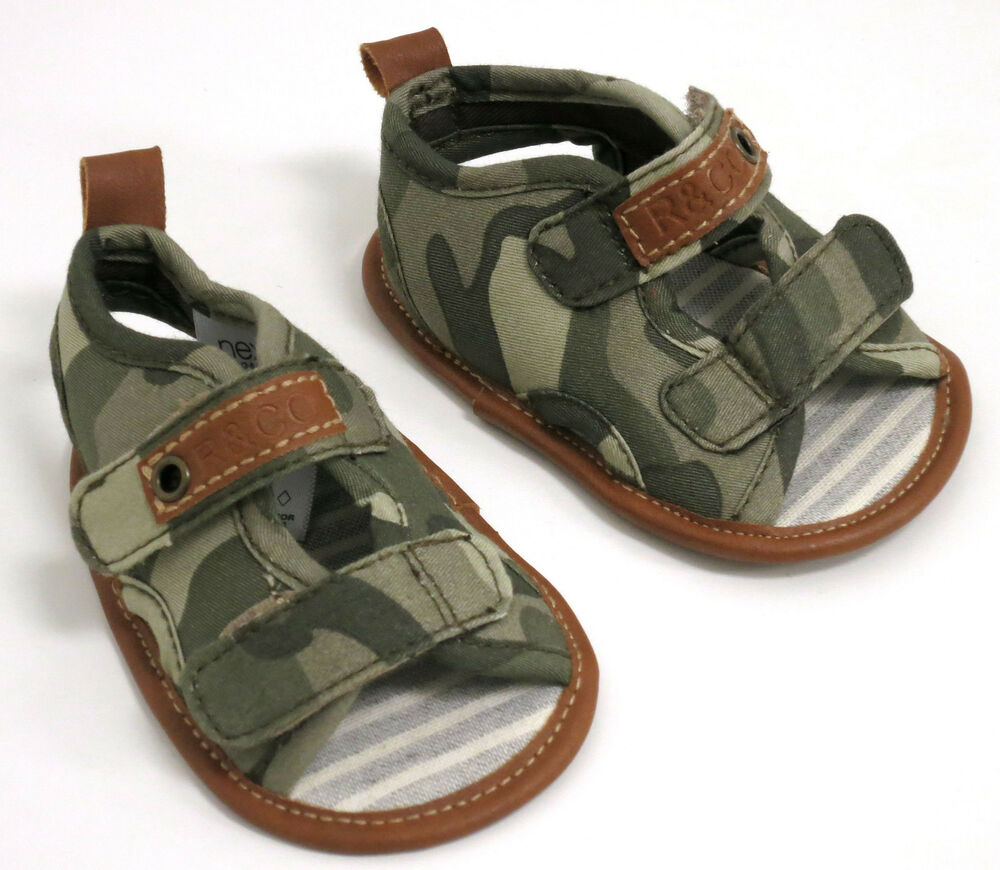 NEXT BABY BOYS KHAKI CAMOUFLAGE SANDALS SHOES SIZE 0 / 0-3 ...