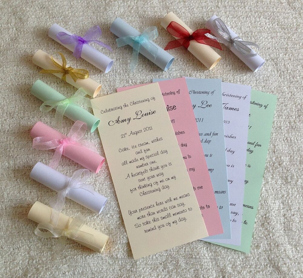 Christening Baptism Communion Naming Thank You Favour ...