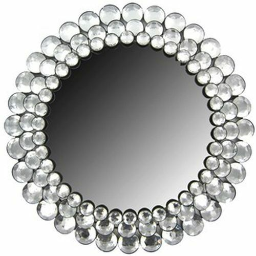 Modern Round Circle Chic Crystal Bling Gemstone Accented