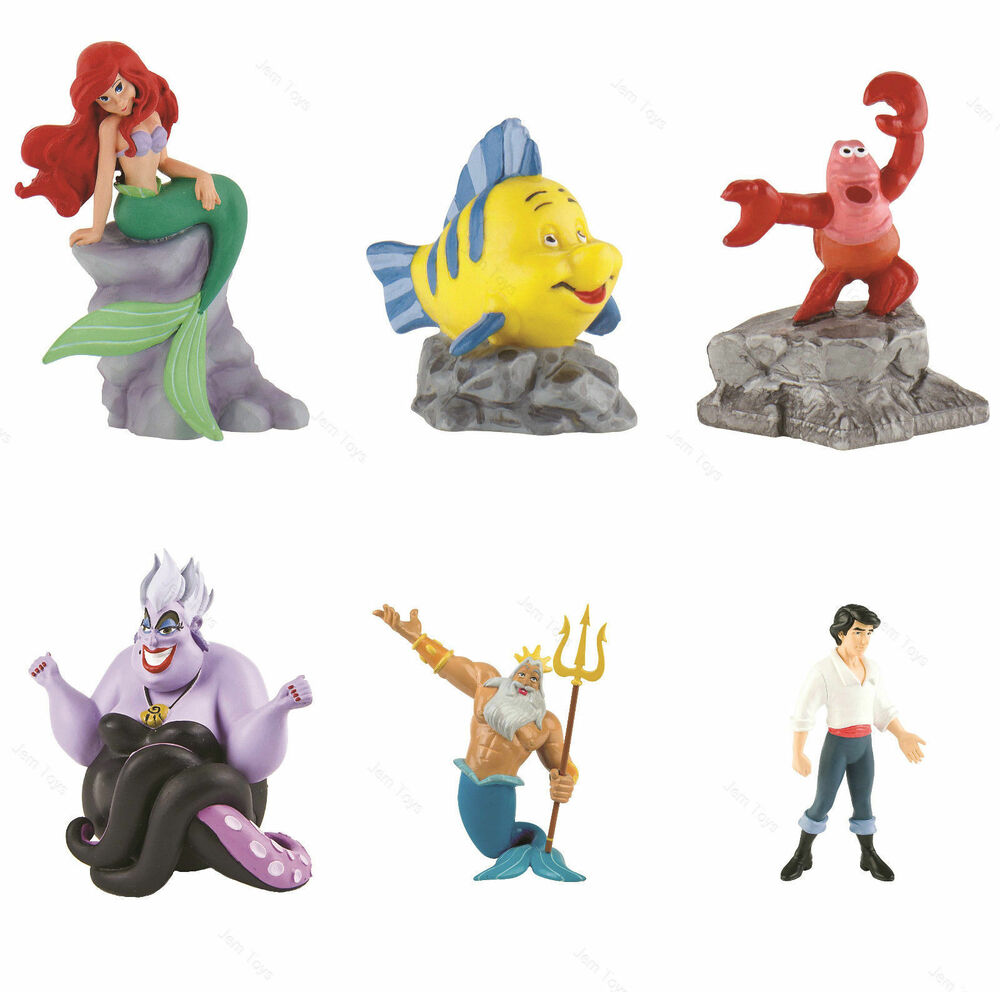 Toys For Disney : Official disney little mermaid figures figurine toy cake