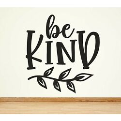 WA12 BE KIND motivation bedroom WALL ART STICKER QUOTE DECOR bedroom OFFICE
