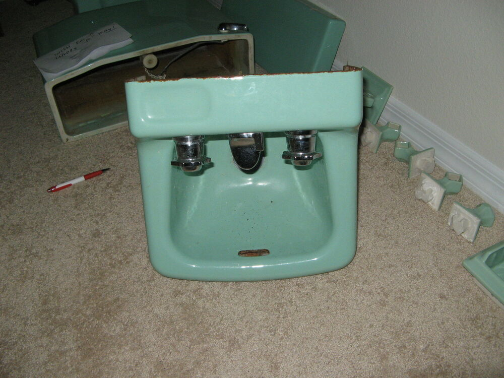 Retro Sea Foam Green Bathroom Wall Sink Ebay