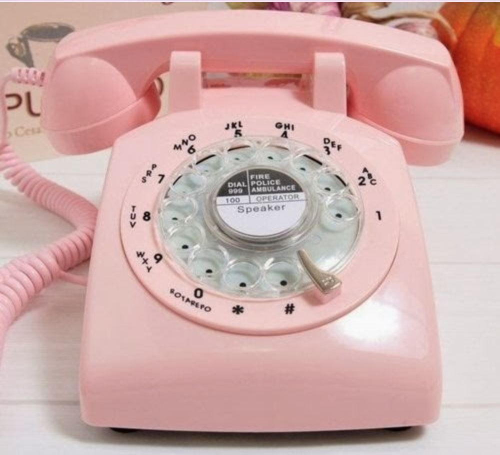 pink rotary retro cord telephone phone vintage 1970 39 s office work desk classic ebay. Black Bedroom Furniture Sets. Home Design Ideas