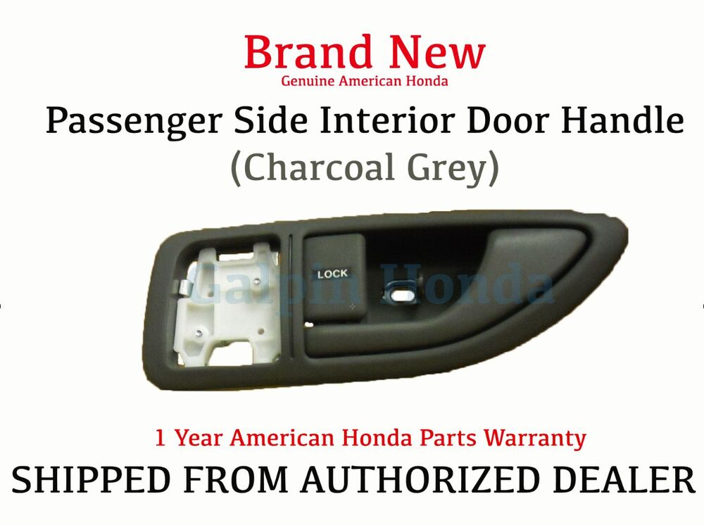 Genuine Oem Honda Del Sol Passenger Side Grey Interior Door Handle 1993 1995 Ebay