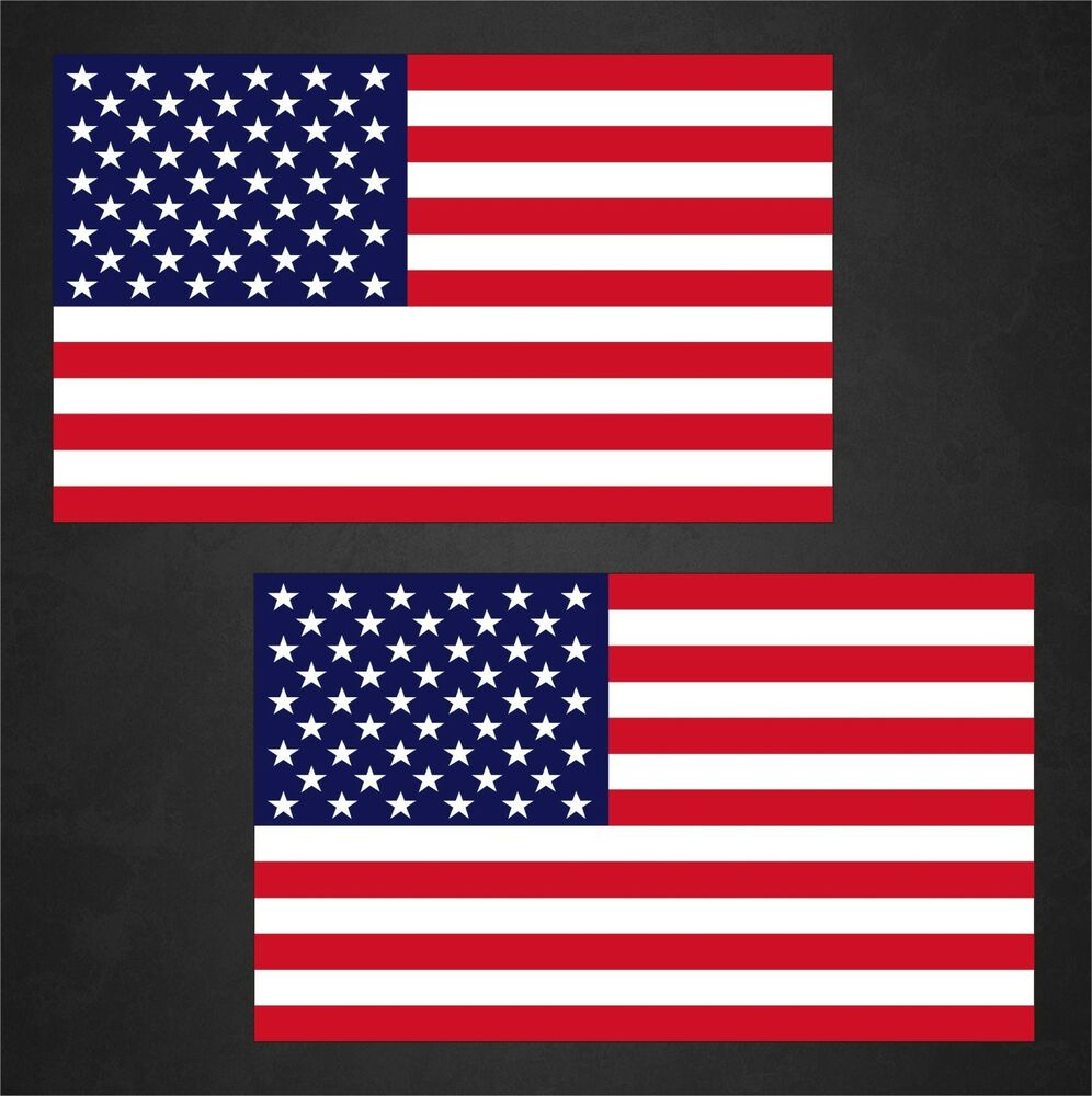 Thin Green Line Flag >> 2 American Flag Decals Stickers | eBay