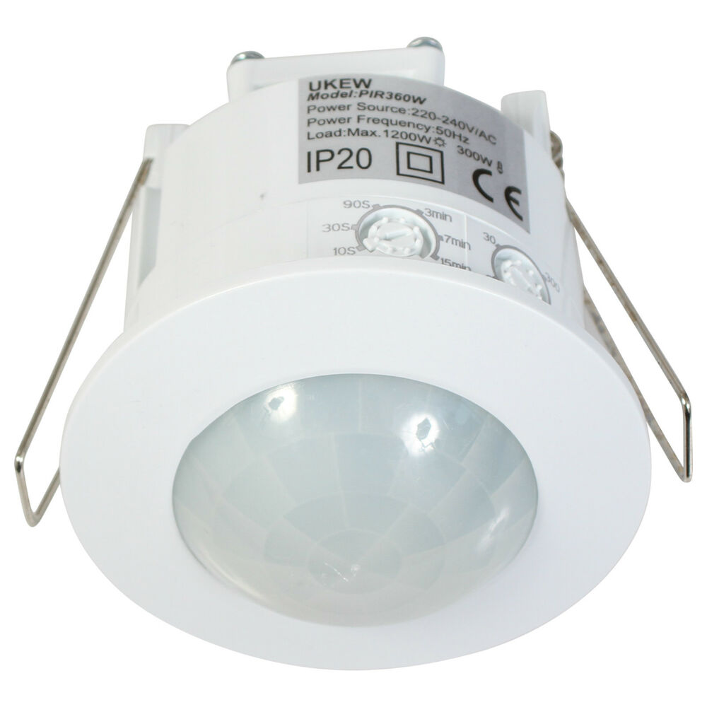 Indoor Energy Saver 360 Degree Recessed Ceiling Pir Light Detector Sensor Switch Ebay