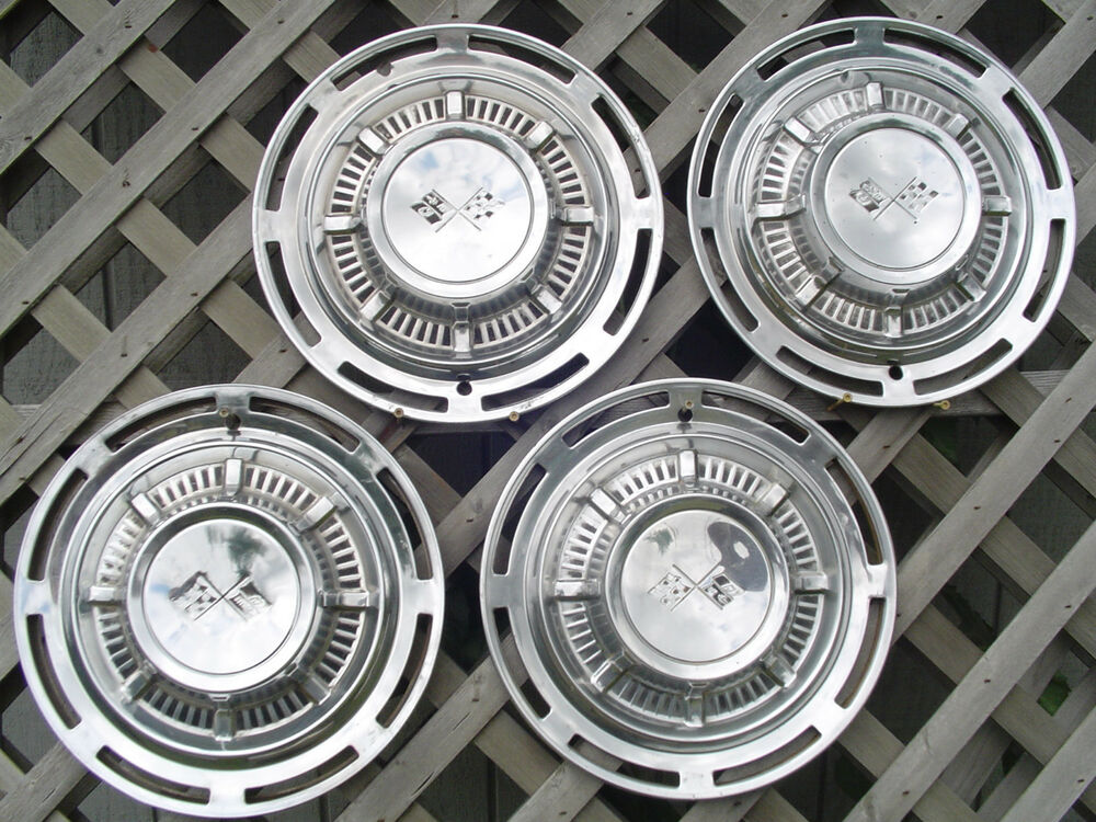 Old Chevy Wheel Grease Caps : Chevrolet impala hubcaps wheel covers center caps