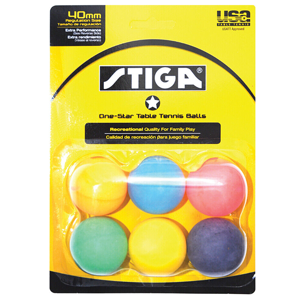 1 Star Table Tennis Balls Of Stiga 1 Star Ping Pong Table Tennis Balls Multicolor Ebay