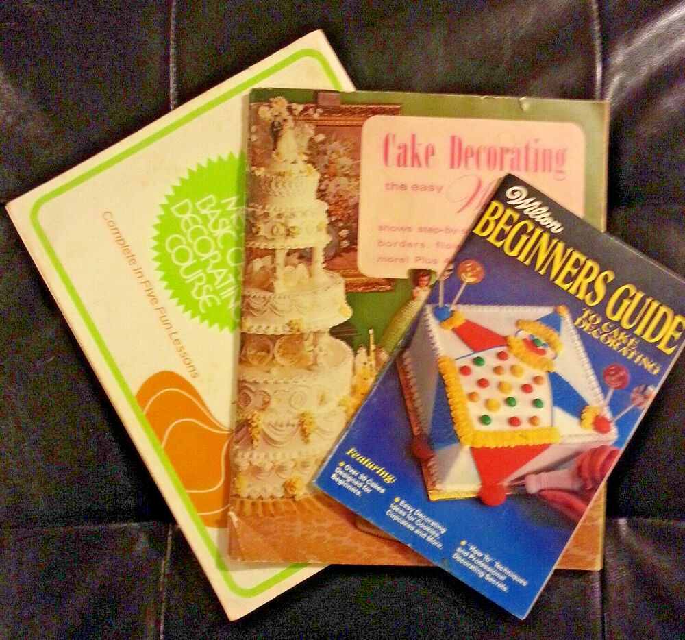 Set of 3 Wilton Vintage Cake Decorating Books How to s and ...