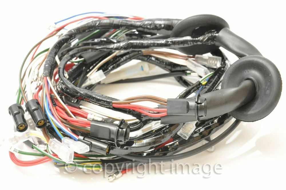 Vintage Wiring Harness Uk : Triumph bonneville t tr wiring harness uk made