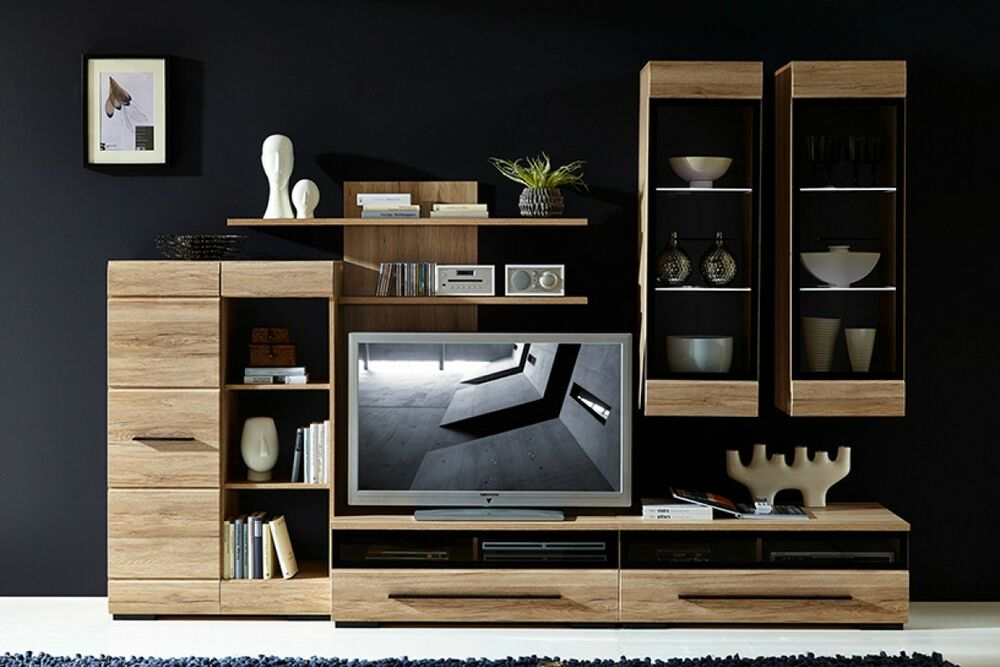 wall cabinets living room furniture modern living room furniture set led wall units tv 23101